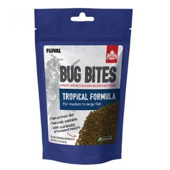 Fluval Bug Bites Granules for Medium/Large Tropical Fish 4.4oz (125g)
