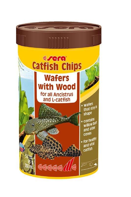 Sera Catfish Chips with Wood 3.3oz (250mL)